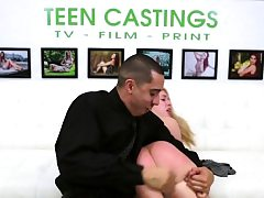 Brutal casting for dumping ballgagged teen