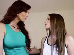 Scarlett Sage licking stepmoms pussy before face-sitting her