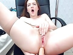 Curly warm nubile anal screwed herself w dildo