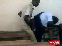 teenager african students smashing doggstyle in class