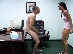 Pervy gals get mischievous while busting and slapping scrotum