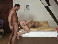 Cuckold orgy with hot light-haired mother-in-law