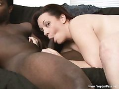 Bi-Racial hook-up after shower