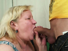 Wife finds him pummeling her old plump mother!