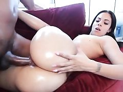 Interracial hardcore bitch nubile gets big black cock