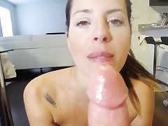 Harcore deep dildoing in the ass and mouth