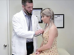 Doctors checkup completes with deep ass fucking sex for ash-blonde nubile