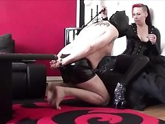 Tight up older dude gets sexually abused by a punk babe rigid core