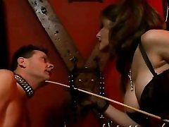 Steamy bdsm flick with a nasty breezy on high heels getting abused